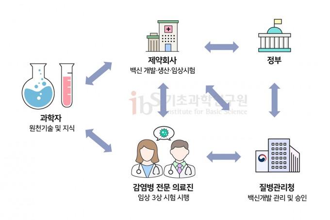 백신 개발과 관련된 모든 이해관계자가 처음부터 한 자리에 모여 방향을 정하고, 추진해 나가야 성공적인 백신 개발 성과를 낼 수 있을 것이다. IBS 제공