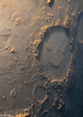 화성에 있는 웃는 얼굴