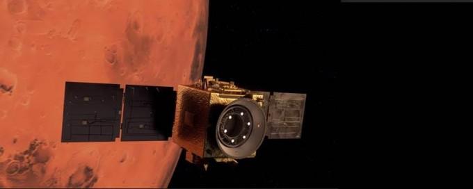 아말 탐사선 화성 궤도 진입 상상도