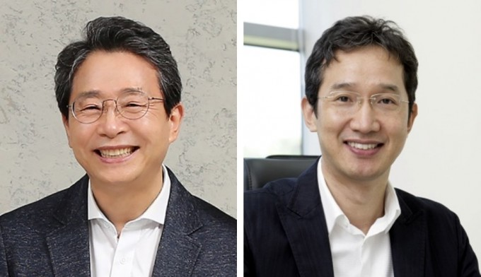 배승철 부경대 유엔식량농업기구(FAO)-세계수산대학 국제교수(왼쪽)와 황일두 포스텍 생명과학과 교수가 5회 카길한림생명과학상 수상자로 선정됐다. 한국과학기술한림원 제공