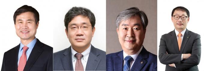 왼쪽부터 김동원 총장, 유태경 루멘스 대표이사, 이낙규 생기연 원장, 구현모 KT 대표이사. KAIST 제공.