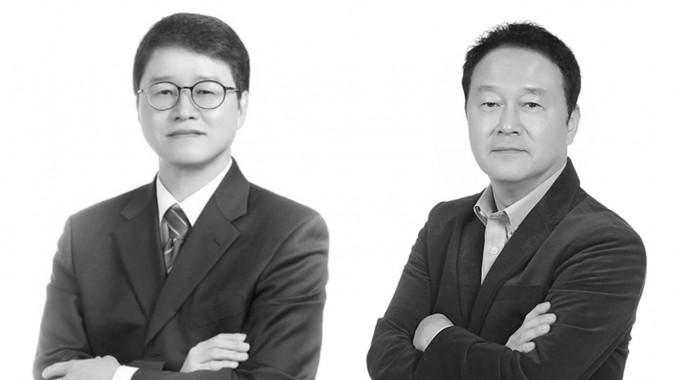 장순문(왼쪽) 재무담당 상무와 김신영(오른쪽) 최고운영책임자. 헬릭스미스 제공