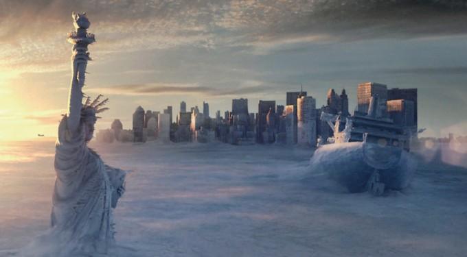 2004년 개봉한 영화 '투모로우'의 한 장면. 투모로우는 기후변화의 영향으로 해류가 제대로 흐르지 못해 급작스러운 빙하기가 찾아온다는 내용이다. 21세기폭스사 제공