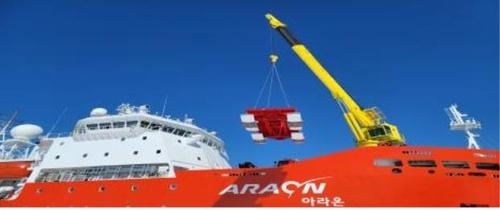 아라온호, 139일간 항해 끝 귀환…남극에 해저지진계 설치