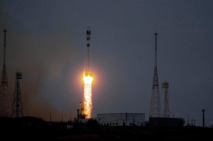 22일 차세대중형위성 1호가 카자흐스탄 바이코누르 우주센터에 러시아 JSC 글라브코스모스사의 소유즈 2.1a 발사체에 실려 발사됐다. JSC 글라브코스모스 공식트위터 제공