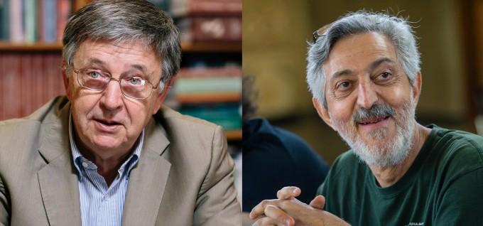 노르웨이 학술원은 2021년 아벨상 수상자로 로바스 라즐로 헝가리 알프레드레니수학연구소(ELKH) 연구원(왼쪽)과 에이비 위그더슨 미국 프린스턴고등연구소 연구원(오른쪽)을 선정했다고 17일 밝혔다. 헝가리학술원/프린스턴고등연구소 제공