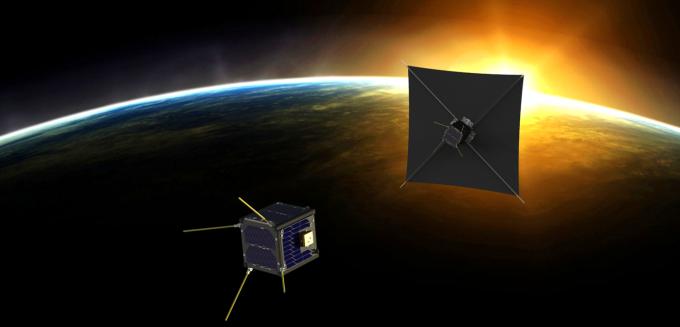 박상영 연세대 교수 연구팀이 개발한 큐브위성 ′티몬′과 ′품바′는 두 대가 함께 날며 태양의 바깥 대기층인 코로나를 관측하는 임무를 수행한다. 연세대 제공