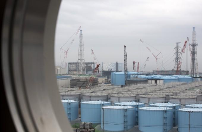 폐로 작업이 진행 중인 후쿠시마(福島) 제1원전 내부에 있는 오염수 탱크의 모습.  후쿠시마/연합뉴스 제공