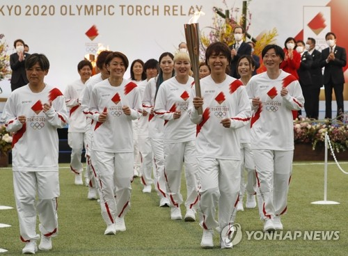 일본 코로나19 재확산에 도쿄올림픽 성화 봉송 중단 위기