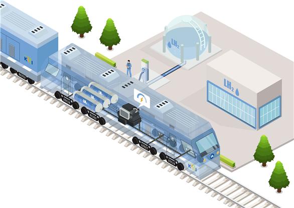 액체수소를 이용해 최고속도 시속 150km로 한번 충전에 1000km 이상을 운행하는 수소열차 개발이 진행된다. 한국철도기술연구원 제공