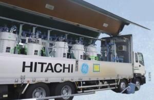 오염수에서 방사성 핵종을 제거하는 다핵종제거설비의 시험장치. 도쿄전력 제공