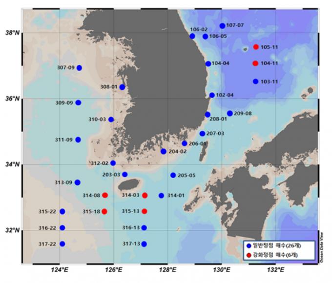 원자력안전위원회가 1년에 한 번 공개했던 국내 바닷물 속 방사능 물질 분석 결과를 매달 공개하기로 했다. 원안위 홈페이지 캡처