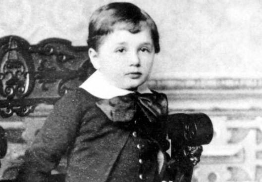 3살 때의 아인슈타인. 위키피디아 제공