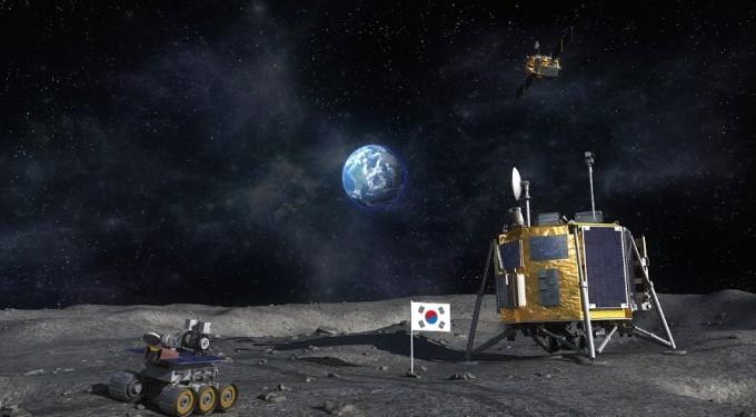 >한국형 달 탐사선에 실릴 로버의 모습. 한국항공우주연구원 제공