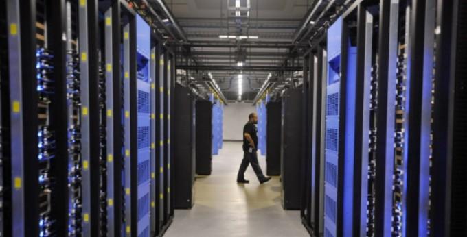 미국 노스캐롤라이나 주에 있는 페이스북의 데이터센터 내부의 모습. 게티/연합뉴스 제공