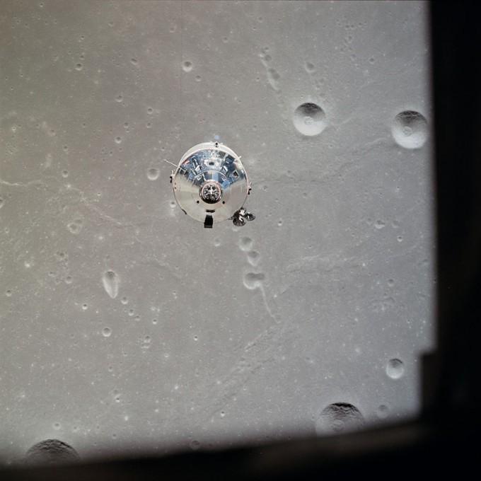 마이클 콜린스가 조종했던 아폴로 11호의 사령선 컬럼비아. NASA 제공