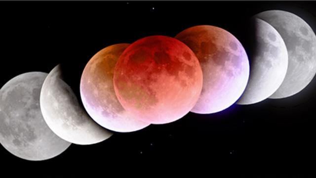 달이 지구 그림자에 완전히 가려지면 오히려 붉은 오렌지빛으로 보이게 된다. 태양에서 오는 빛이 지구 대기를 지나면서 산란되기 때문이다.한국천문연구원 제공