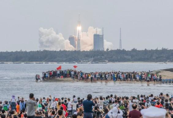中 로켓 잔해물 아라비아해 상공에서 해체…대기권 진입 시 대부분 소각(종합)
