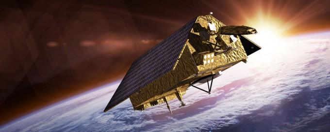 고도 1336km 상공에서 지구를 도는 센티넬-6 위성 상상도. NASA 제공
