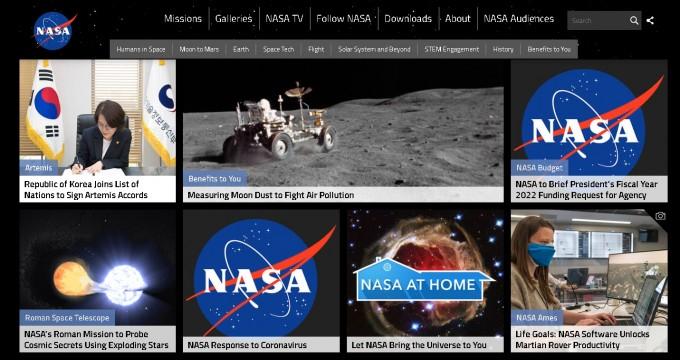 NASA가 홈페이지를 통해 임혜숙 과기정통부 장관이 아르테미스 협정에 서명한 소식을 비중있게 다뤘다. NASA 공식홈페이지 캡쳐