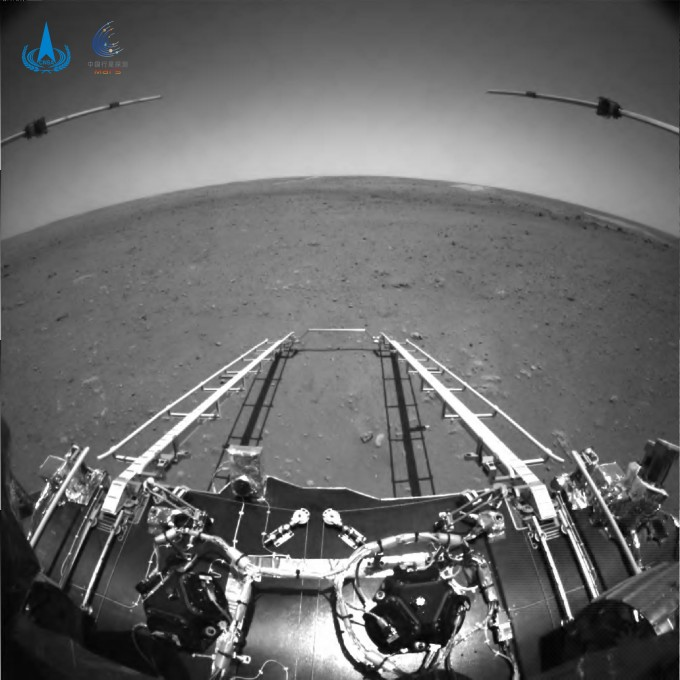 중국의 화성 탐사선 ′톈원 1호′가 보내온 첫 화성 영상이다. 중국국가항천국(CNSA) 제공