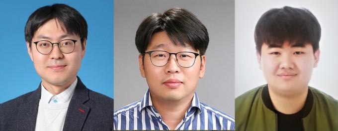 왼쪽부터 홍성민 GIST 교수, 최종현 GIST 교수, 한승철 석사과정 연구원. GIST 제공.