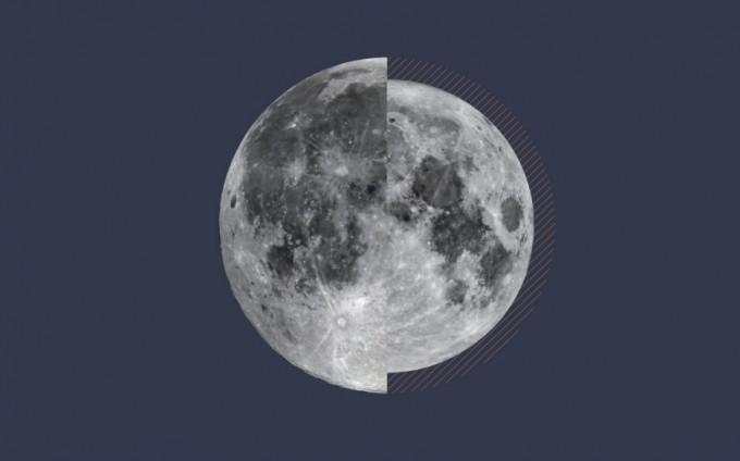 2017년 관측된 가장 큰 달과 가장 작은 달을 붙여놓은 것. 두 달 넓이의 차이는 약 14%이다. 한국천문연구원 제공