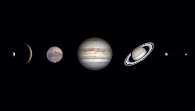 태양계 부문 금상. 염범석 씨의 ′태양계의 행성들′. 천문연 제공
