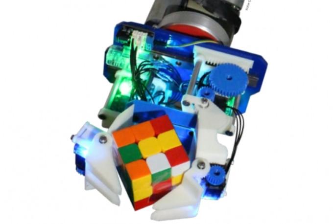 미국 예일대 연구팀은 두 개의 집게손가락 외에 손바닥을 겸비한 로봇손을 개발했다. 손바닥 구조 덕분에 기존 로봇손과 비교해 다양한 형태와 물성의 사물을 손쉽게 잡을 수 있다. 월터 버셔 미국 예일대 기계공학 및 재료과학부 제공