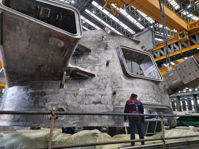 한국핵융합에너지연구원은 25일 국제핵융합실험로(ITER) 핵심 부품 중 하나인 '진공용기'의 두번째 섹터가 프랑스로 출항했다고 밝혔다. 한국핵융합에너지연구원 제공