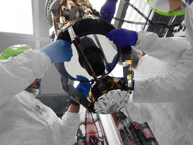 적외선 우주배경복사 관측 실험-2(CIBER-2)에 장착된 적외선카메라 외경의 모습이다. 한국천문연구원 제공