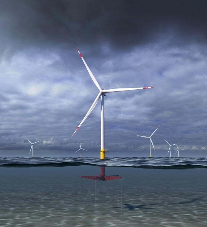 제너럴일렉트릭(GE)은 최근 무게는 35% 줄이고 발전 용량을 12MW(메가와트)로 키운 첨단 부유식 해상풍력 터빈을 공개했다. GE 제공