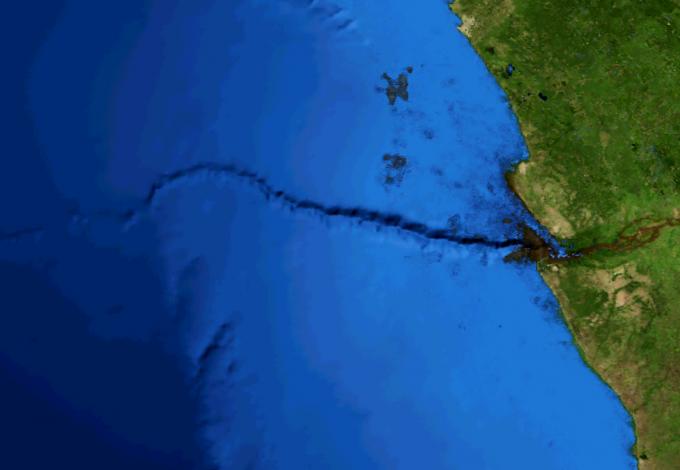 콩고 해저 협곡. 위키미디어 제공.