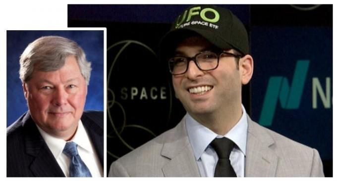 영국주식 시장에 우주개발 ETF ′요다′(The Procure Space UCITS ETF (LON:YODA))를 출시한프로큐어 홀딩스의 로버트 털 (왼쪽), 앤드류채닌.링크드인 제공