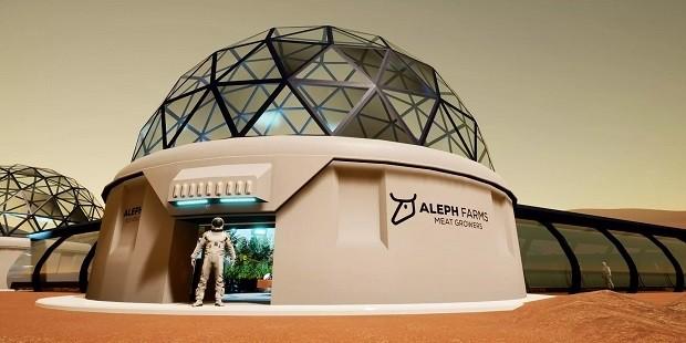 스라엘의 배양육 기업인 알레프팜즈는 달이나 화성에 배양육 생산 시설을 지어 우주인의 식량으로 공급하겠다는 ′알레프 제로 프로그램′을 발표했다. 알레프팜즈 제공