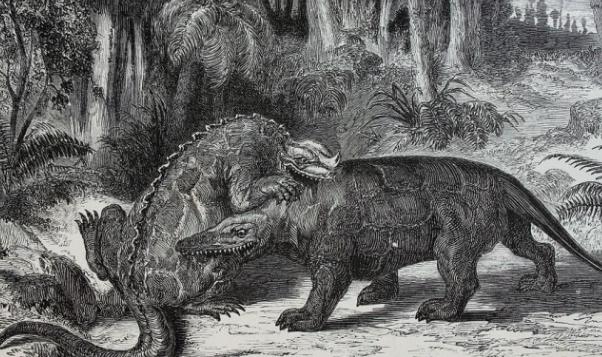 1863년 그려진 공룡의 복원도. 위키피디아 제공