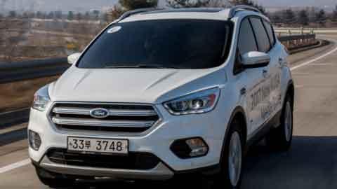 [시승기] 코너링·가속력 '탄탄'…포드 준중형 SUV '뉴 쿠가'