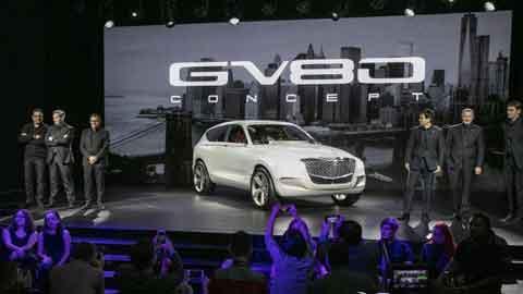 제네시스 SUV 콘셉트카 'GV80' 뉴욕서 최초 공개