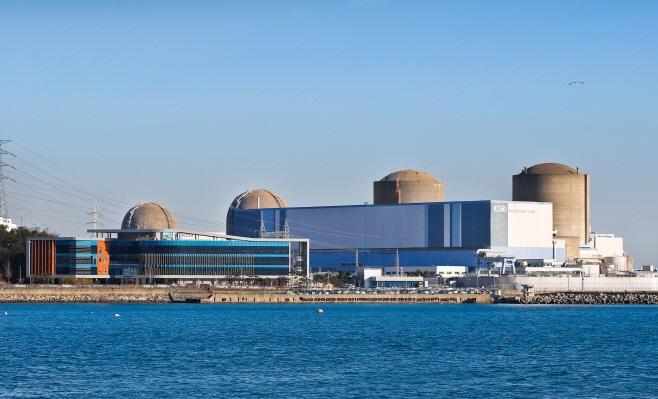 한국수력원자력 고리원자력발전소 전경.