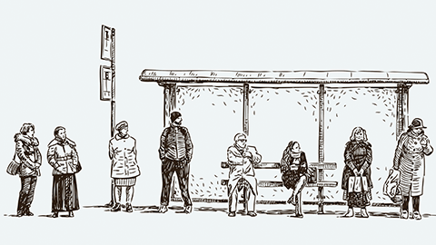 [때와 곳 15] 열쇠꾸러미도 기다리는 곳: 버스정류장