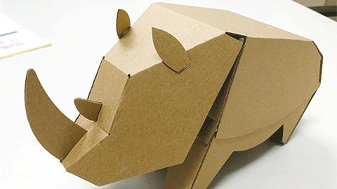 종이로 만들고, 스마트 기기로 조종하는 RC코뿔소 만들기!