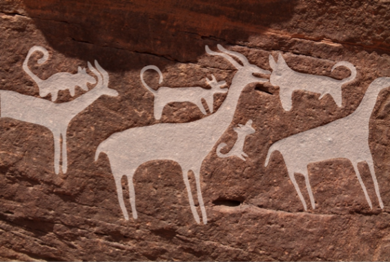 [강석기의 과학카페] 9000년 전 사냥개의 활약상 생생하게 묘사된 암각화 감상법