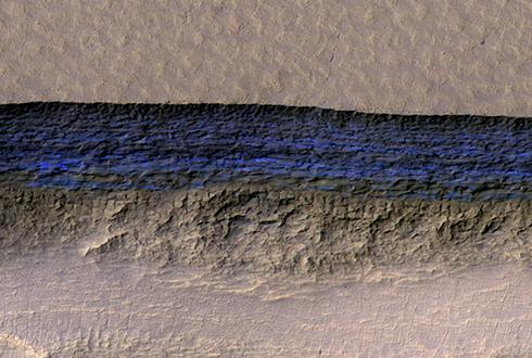 [포토] 화성의 얼음 퇴적물, 3차원으로 보다