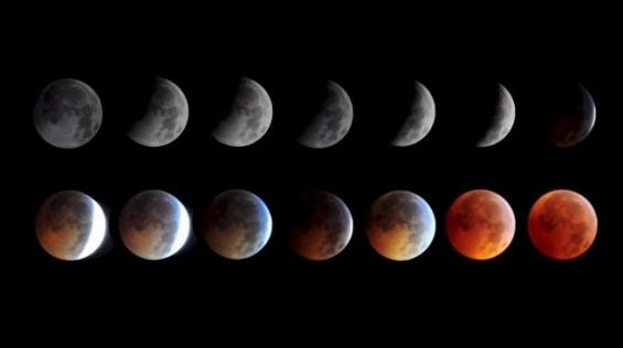 개기월식 때 달이 빨갛게 변하는 이유는?