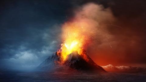 슈퍼 화산 폭발로 인류 멸종할 뻔...당시 폭발 위력 증거 나와