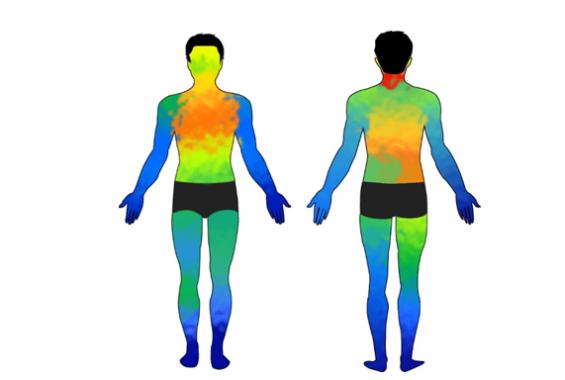 배터리 필요 없는 초박형 피부 센서 개발