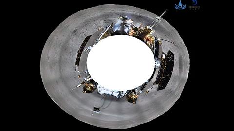 中, 창어 4호가 찍은 달 뒷면 파노라마 사진 첫 공개
