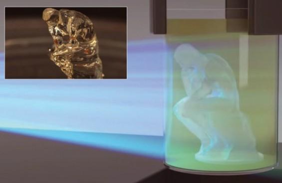 빛 쪼이면 2분 안에 뚝딱, 회전하는 3D 프린터 나왔다