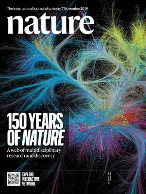 [표지로 읽는 과학] '네이처' 150주년, 지식의 흐름이 드러나다