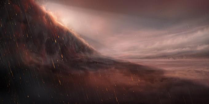 지옥처럼 펄펄 끓는 행성 밤이면 쇳물 같은 비가 내린다